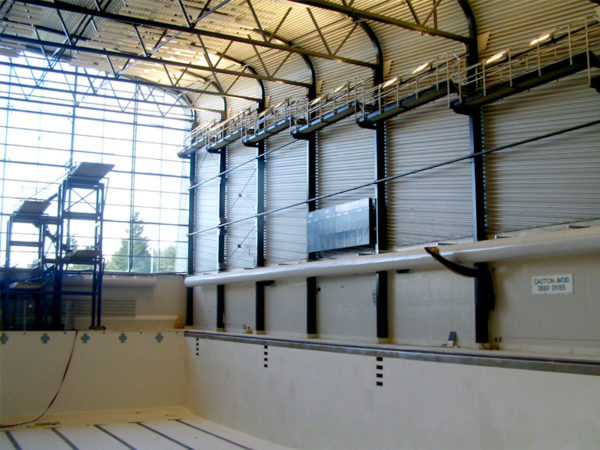 Fabrication and installation of platforms for London aquatic center