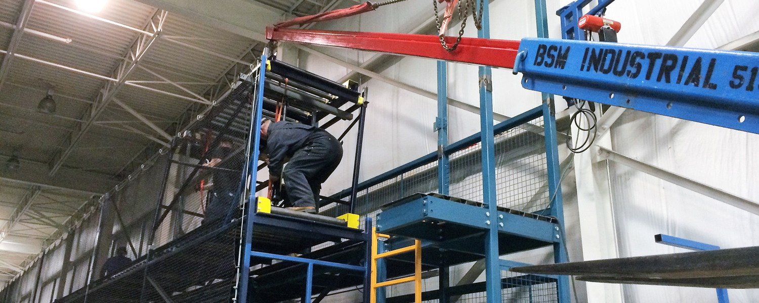 Installing third level conveyor system