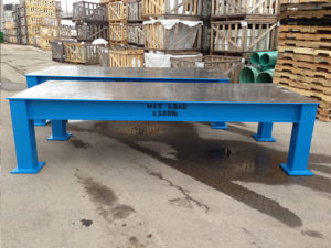 6,500lb Fabricated die tables