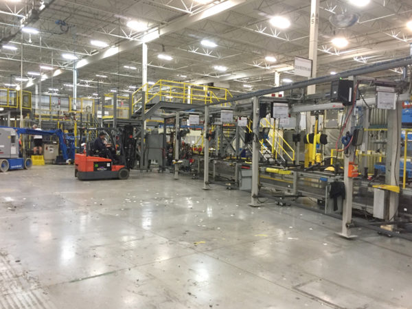 Relocate production line