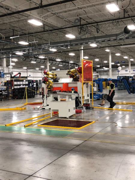 Robot welding cell installation